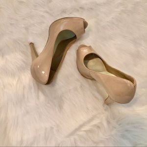 Nine West Nude Portofino Peep-Toe Pump